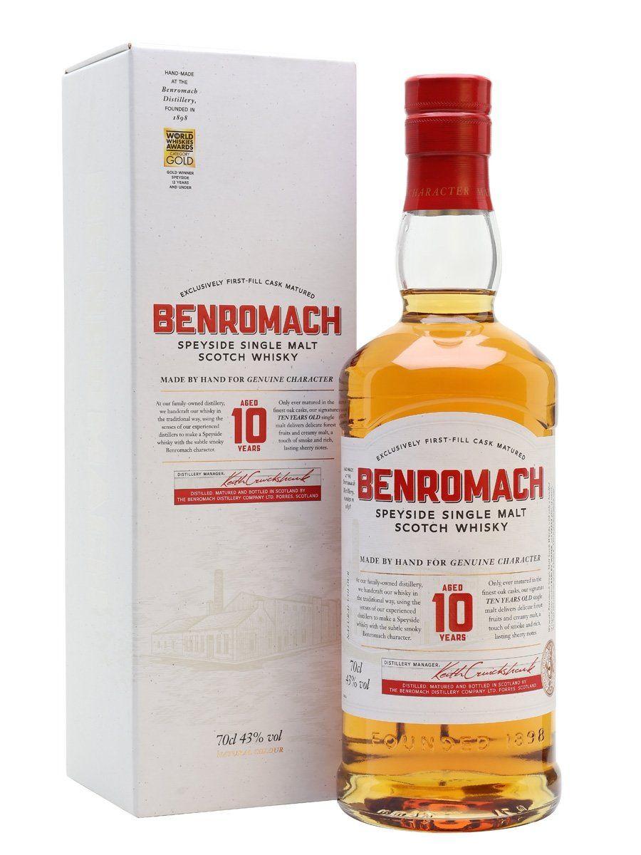 Benromach 10 Single Malt Scotch Whisky, Speyside £31.02 from Amazon