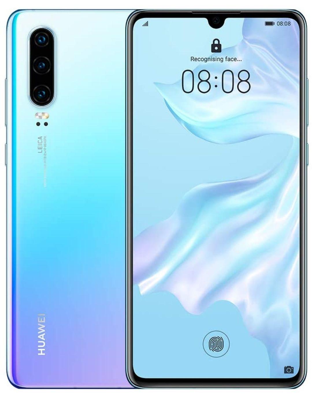 Huawei P30 Kirin 980 128GB Unlocked Smartphone Breathing Crystal / Aurora - Grade B Used Good - £132.99 @ Handtec / Ebay