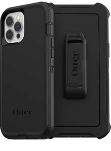 OtterBox Defender Series, Rugged Protection for Apple iPhone 12 Pro Max - Black - Non-Retail Packaging £22.10 at Amazon