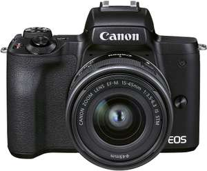 Canon EOS M50 Mark II + EF-M 15-45 mm f/3.5-6.3 IS STM (Black) - Mirrorless camera £619.84 at Amazon