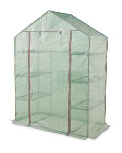 Gardenline Walk In Greenhouse with six shelves and Heavy duty cover + 3 Year Warranty £24.99 + £3.95 delivery (UK mainland) @ Aldi