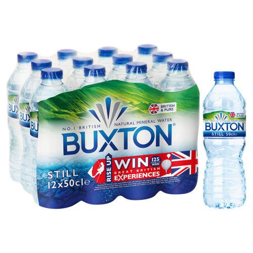 12 X 500ML Buxton UK Produced Still Natural Mineral Water £2 @ Asda