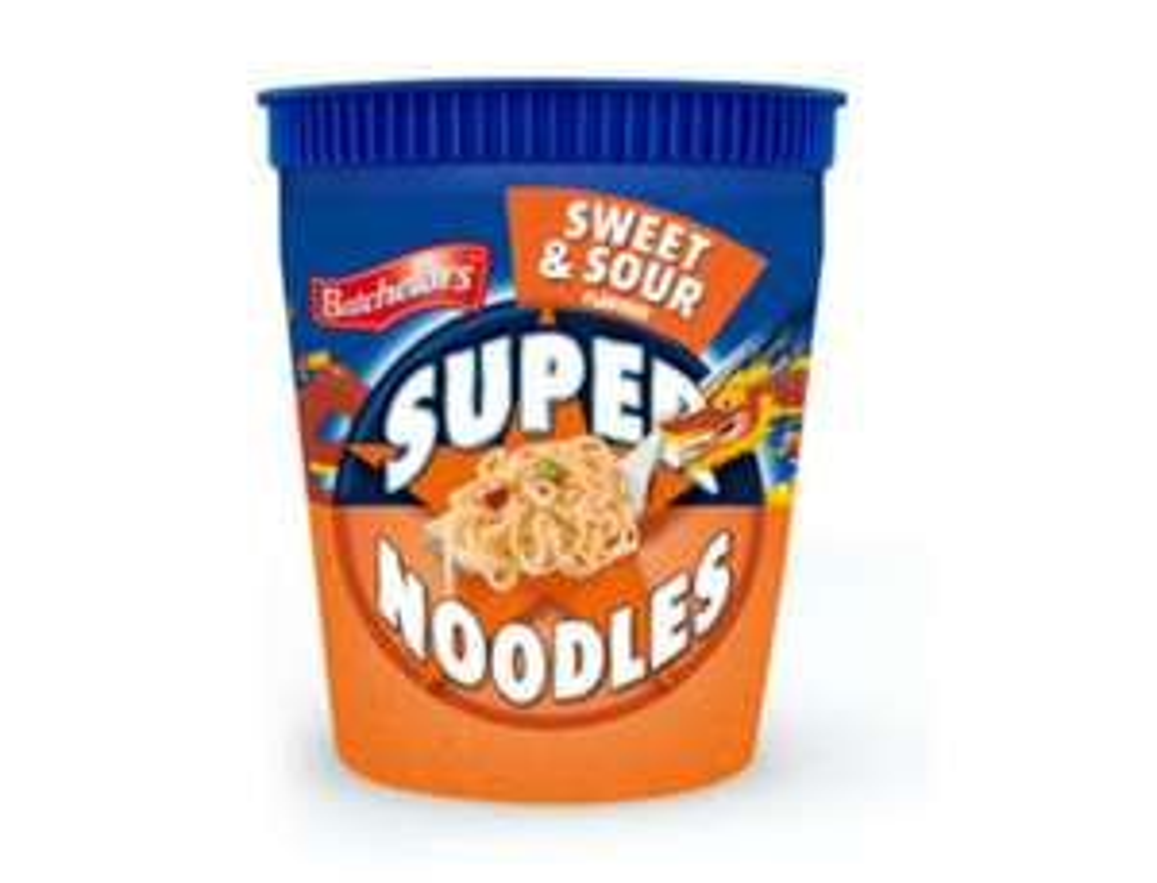 Batchelors Super Noodle Pot 75g Now 25p each or 5 for £1 Fulton Foods Rothwell Leeds