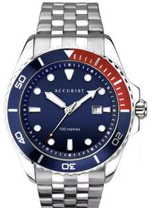 Accurist Men's Divers Style Silver Stainless Steel Bracelet Watch 100m £29.99 at Argos