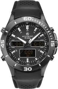 Accurist Mens Analogue-Digital Japanese Quartz Watch with Leather Strap 7192.01 - £45.23 @ Amazon