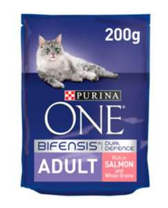Purina ONE Bifensis Dual Defence Salmon & Whole Grain Dry Adult Cat Food 200g 35p at Asda Crossharbour