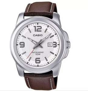 Casio Men's Brown Genuine Leather Strap Watch £21.99 (Free Click & Collect) at Argos