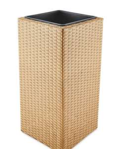 Cubic and Conic Rattan effect Planters £18.95 delivered at Aldi