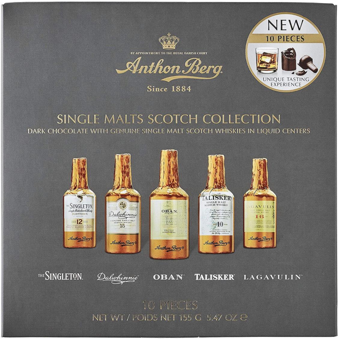 Anthon Berg - Chocolate Liqueurs - 5 Premium Single Malts Scotch Whiskies 155g - £4.08 (+£4.49 Non-Prime) @ Amazon