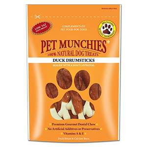 Pet Munchies Duck Drumstick 100 g Pack of 8 £7.57 prime / £12.06 non prime @ Amazon