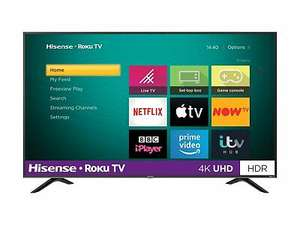 Hisense Roku 50 Inch R50A7200UK Smart 4K HDR LED Freeview TV942, with 3 months AppleTV+ for £349 + free C&C @ Argos