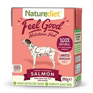 Selected Naturediet Wet Dog Food 390g Pack of 18 from £9.06 +£4.49 NP (£8.15 on Subscribe & Save) at Amazon
