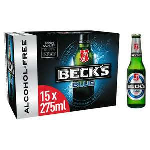 Beck's Blue Alcohol Free Lager 15x275ml £7 @ Sainsbury's