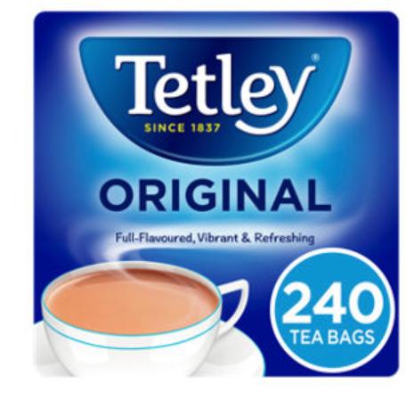 Tetley Tea Bags 240pk £2.89 at Asda