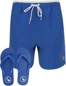 Marloes Swim Shorts With Free Matching Flip Flops In Sea Surf Blue - South Shore - £9 (+£1.99 Delivery) @ Tokyo Laundry Shop