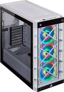 Corsair iCUE 465X RGB Tempered Glass Mid-Tower ATX Case (Glass Side & Front, Three LL120 RGB Fans Included) - £80.42 @ Amazon