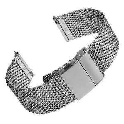 Merriott Quick-Release Milanese Mesh Stainless Steel Polished Watch Strap - 18mm, 20mm, 22mm - £34.20 @ eBay / watchgecko