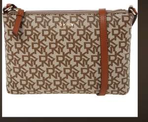 DKNY Mocha Monogram Cross Body Bag £40 +£3.99 delivery / £1.99 Click and Collect @ TK Maxx