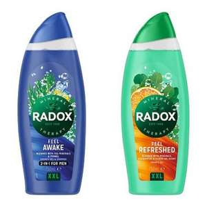 Radox Shower Gels Feel Awake & Refreshed 750ml (XXLarge Bottle) Only £2 + £1.50 click & collect @ Boots