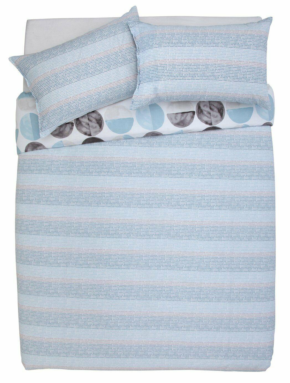 Argos Home Blue Circles 144 Thread Reversible Bedding Set - Kingsize £7.99 delivered @ Argos / ebay