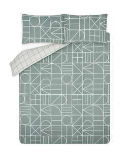 Building Blocks Geo Print Reversible Duvet Set Single £7 / Double £8.40 / King Size £9.80 Free click & collect/£2.95 delivery @ Asda George