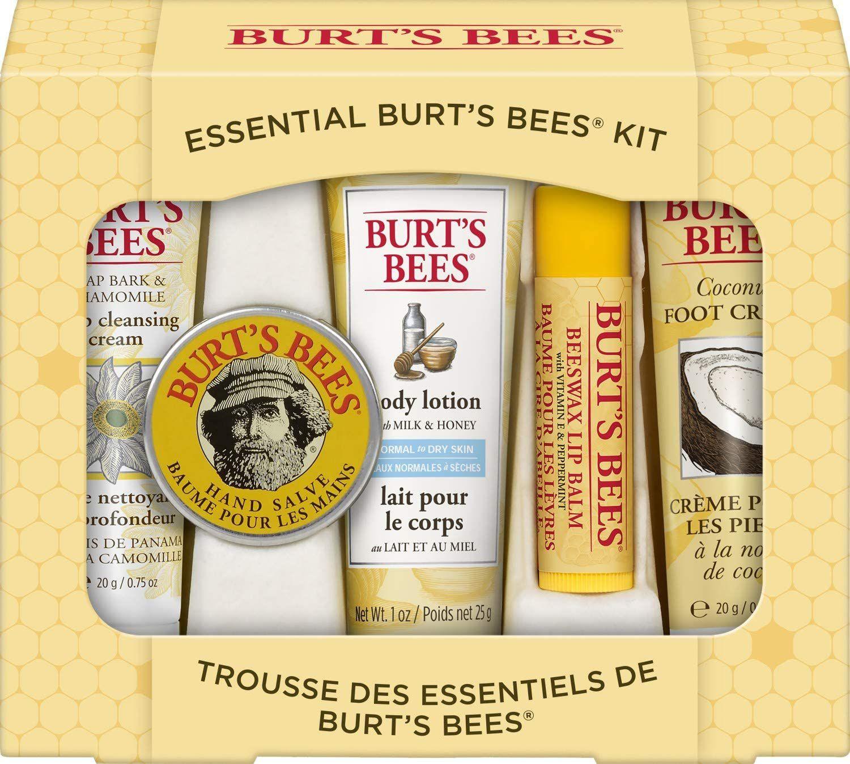 Burt's Bees Essential Gift Set, 5 Travel Size Products £6.53(£4.49 p&p non prime) 25% voucher & 10% s&s £4.14@ Amazon