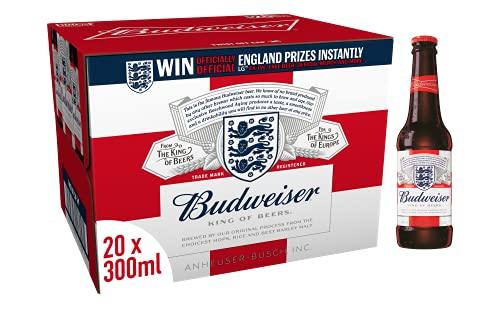 Budweiser Lager Beer Bottle, 20 x 300ml - £9.99 Prime / + £4.49 Non prime deliverd @ Amazon
