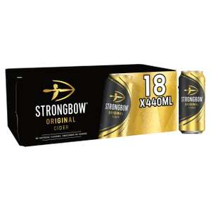 Strongbow Original Cider (440ml) 18 pack for £9.99 @ Morrisons