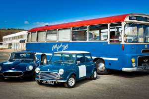 Italian Job Driving Experience - Jaguar E-type, Mini Cooper S & Harrington Bus £90 (E-Voucher) @ Virgin Experience Days