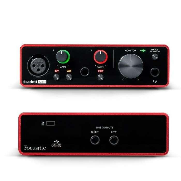 Focusrite Scarlett Solo USB Audio interface, 3rd Gen - Includes Software - £81.44 @ eBay / gak-music