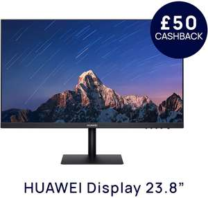 HUAWEI Display 23.8 Inch Monitor, Full HD, 1080P FullView Display + £50 Cashback for £119.99 delivered @ Amazon