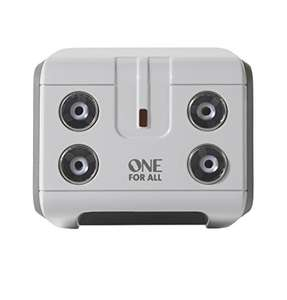 One For All 4 Way TV Signal Booster/Splitter for TV, £9.99 (+£4.49 non prime) at Amazon