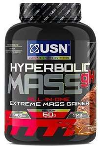 USN Hyperbolic Mass Mass Gainer/High Protein shake -Chocolate 2kg - £11.09 prime / £15.64 nonPrime at Amazon