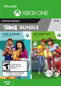 The Sims 4 - Cats & Dogs + My First Pet Stuff Bundle (Xbox) £15.99 @ CDKeys