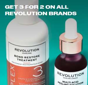 3 for 2 Revolution Beauty (£2.95 delivery / Free over £20) at Beauty Bay