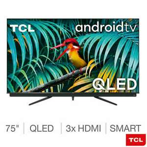 TCL 75C815K 75 Inch QLED 4K Ultra HD Android TV £887.98 @ Costco (Bristol)