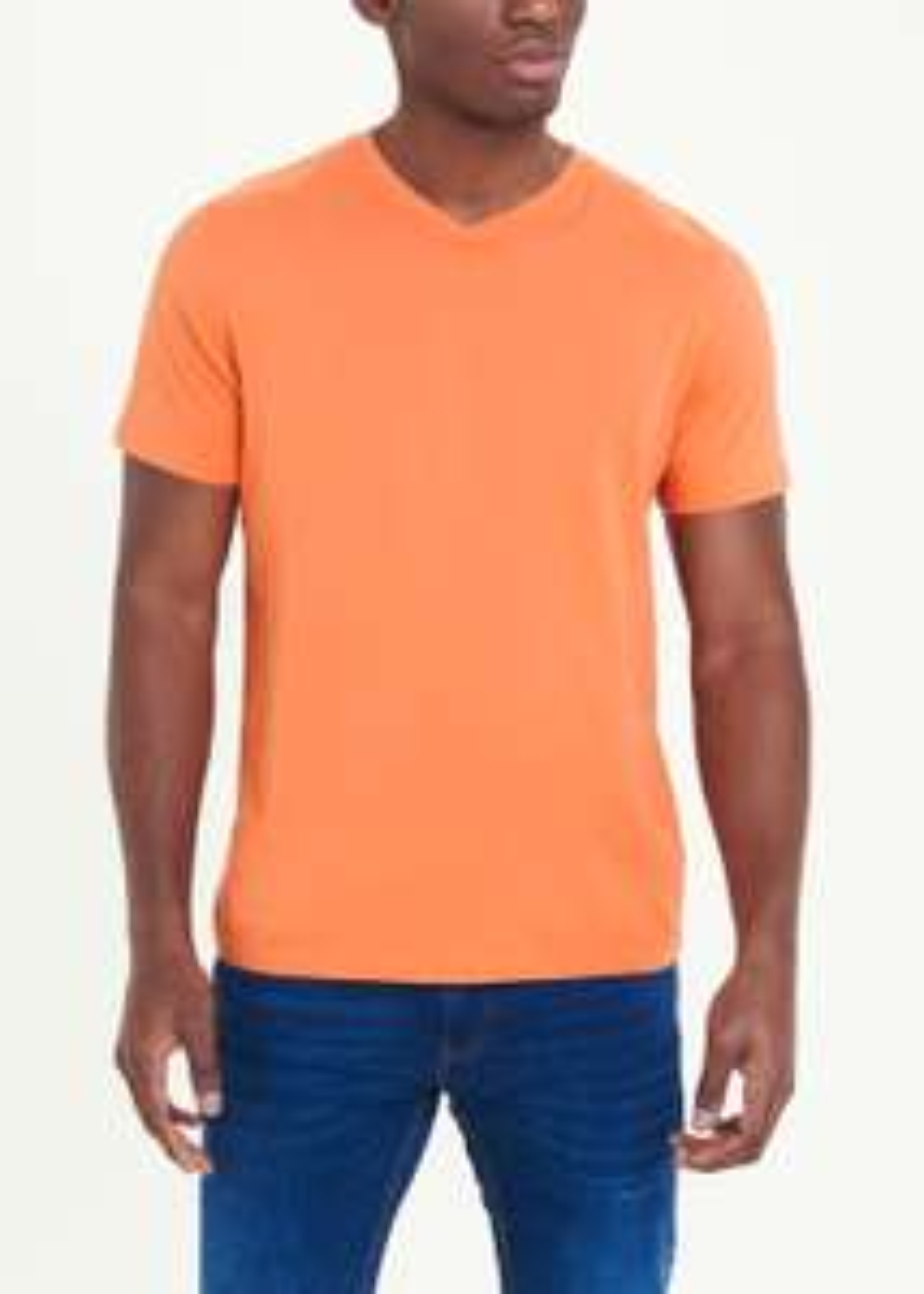 Orange V Neck T Shirt £2 at Matalan Free click and collect