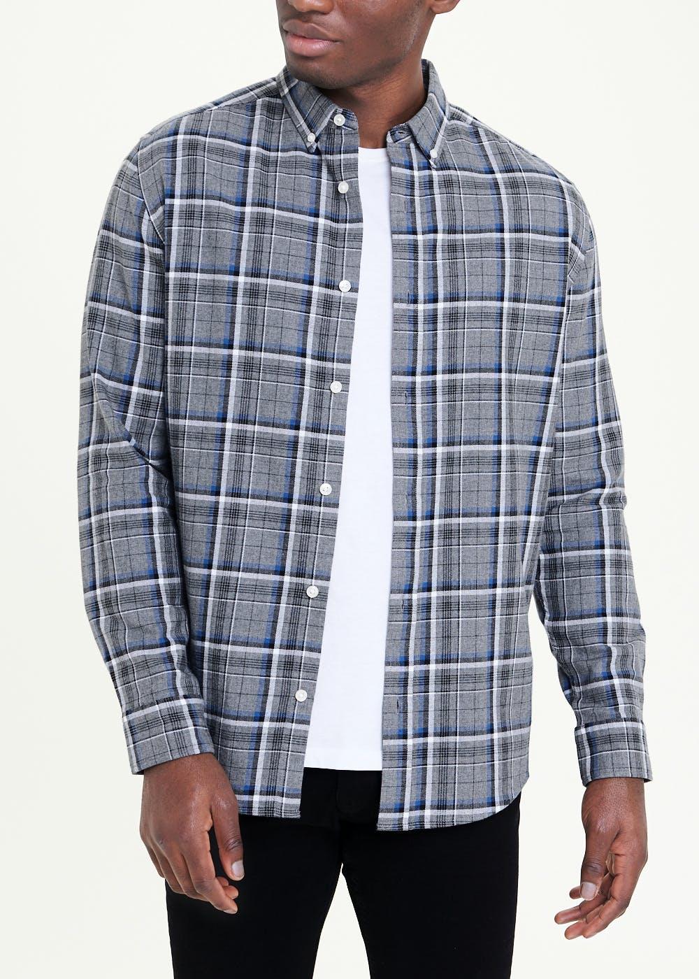 Long Sleeve Plaid Check Shirt £7 (Free Collection) @ Matalan