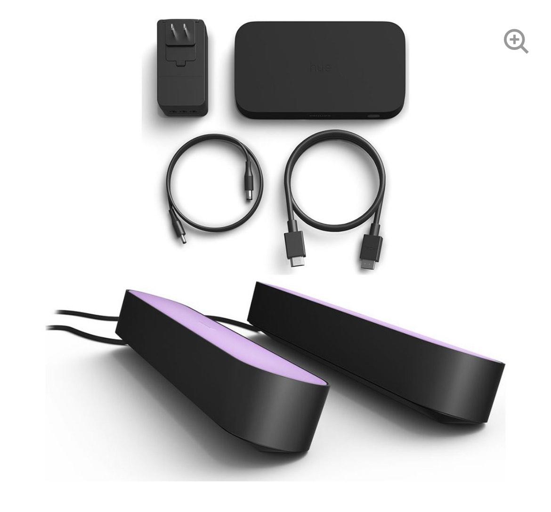 PHILIPS HUE Hue Play HDMI Sync Box & Twin Pack Hue Play Light Bar Bundle - Black - £264.98 @ Currys PC World