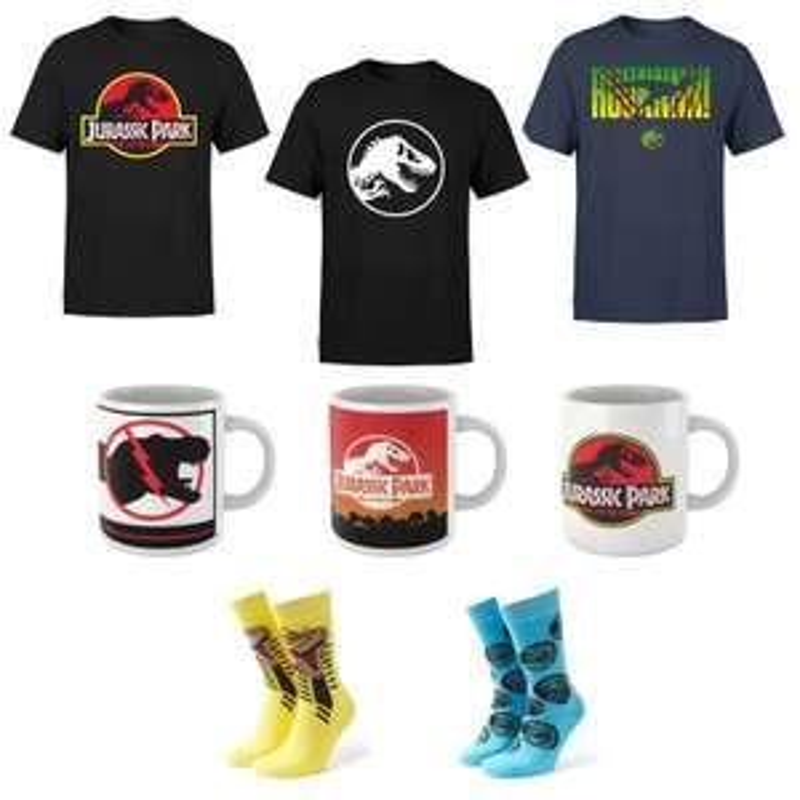 Jurassic Park Mug + Men's T-Shirt // Jurassic Park Men's T-shirt & Socks £7.99 delivered with code @ IWOOT