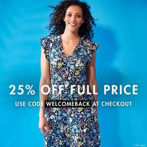 25% Off Full Price items using voucher code @ M&Co