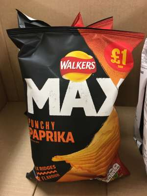 Walkers max paprika 70g 49p each or 3 for £1 Farmfoods Sutton