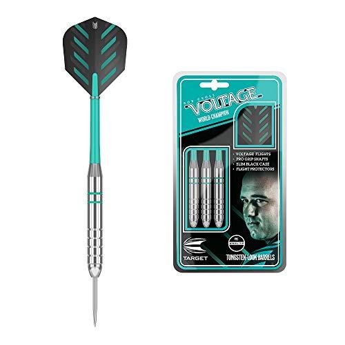 Target Darts Rob Cross Silver Voltage 24G Brass Steel Tip Darts Set £5.84 (Prime) + £4.49 (non Prime) at Amazon