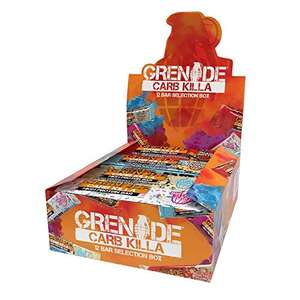 Grenade Carb Killa High Protein and Low Carb Bar, 12 x 60 g - A Selection Box - £16.78 Prime @ Amzn (+4.99 non Prime) / £15.94 S&S at Amazon