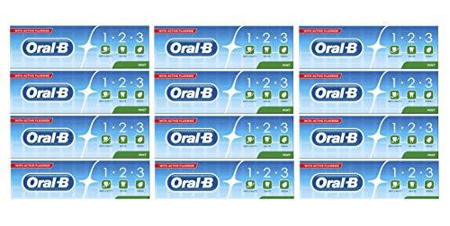 Oral-B 123 Fresh Mint Toothpaste 100 ml, Fluoride Toothpaste Pack of 12 £7.57 Amazon Prime (+£4.49 Non Prime) @ Amazon