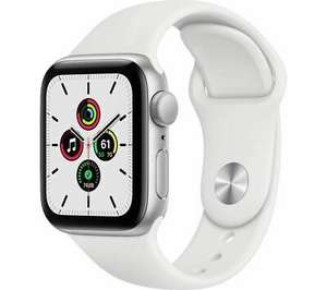 Open Box: APPLE Watch SE - Silver Aluminium with White Sports Band, 40 mm £211.84 (UK Mainland / NI) @ eBay Currys Clearance