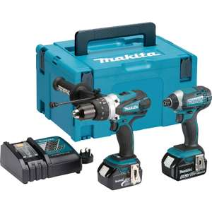 Makita DLX2145TJ 18V LXT Combi Drill & Impact Driver Twin Kit 2 x 5.0Ah £289.98 click and collect at Toolstation