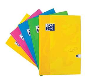 Oxford Touch A5 Notebook Hardcover, Lined, 192 Page, Pack of 5 (Assorted Colors) - £6.66 + £4.49 NP @ Amazon