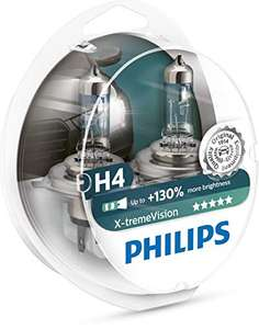 Philips X-tremeVision halogen headlamp H4 12V 60/55W (Twin Pack) - £11.33 + £4.49 NP @ Amazon