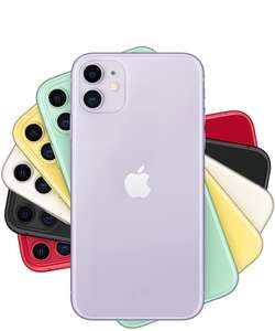 "New iPhone 11 - 6.1"" Display - 64GB - Unlocked - Various Colours starting at £512.09 - @ cheapest_electrical"
